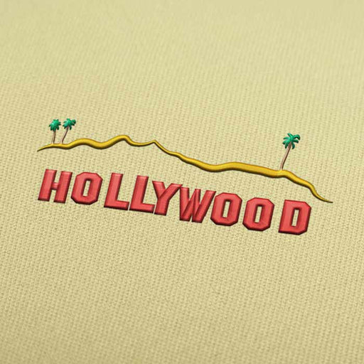 Hollywood Sign Embroidery design for Instant Download