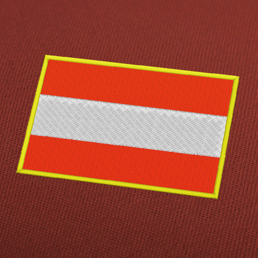 Austria flag embroidery machine design