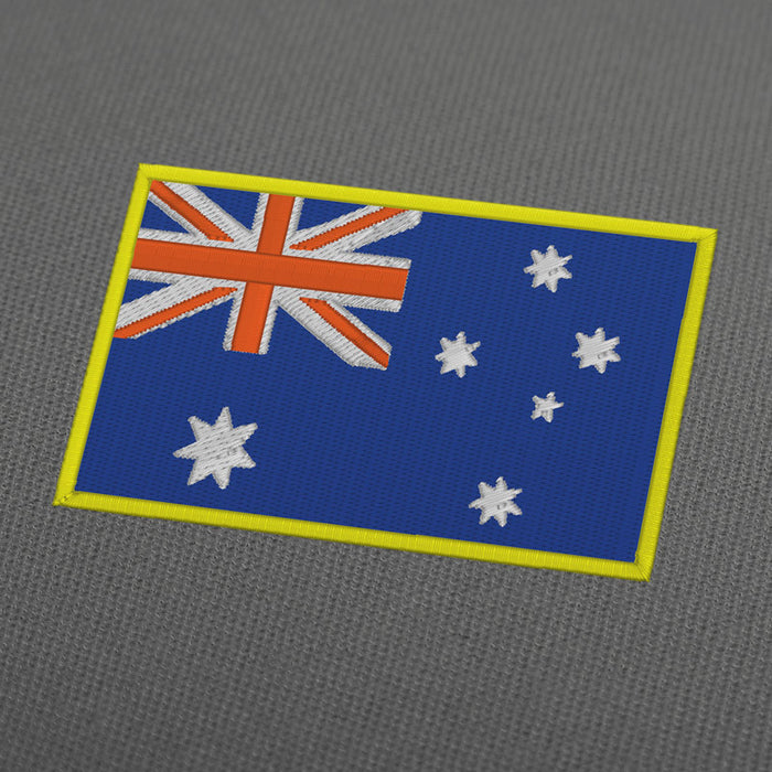Australia flag embroidery machine design