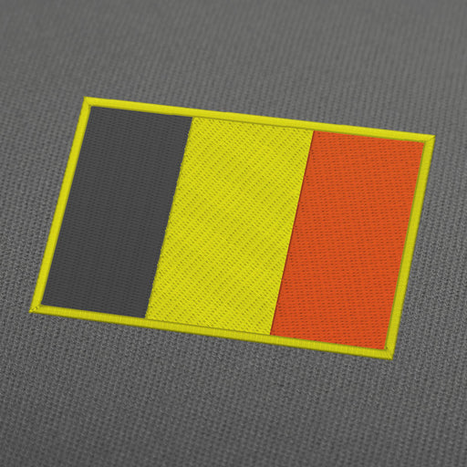 Belgium flag embroidery machine design