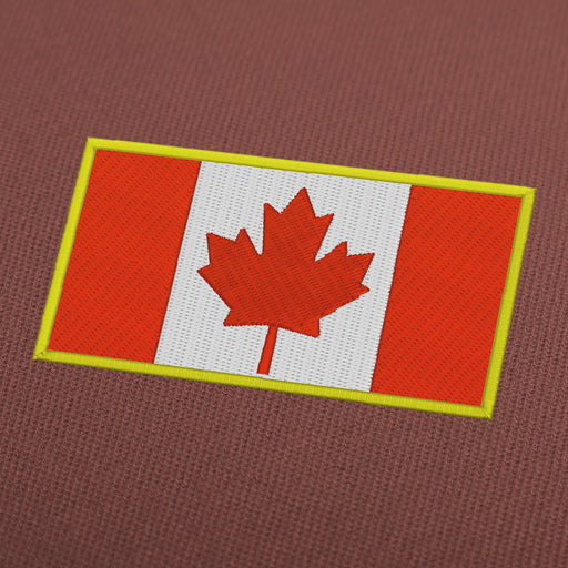 Canada flag embroidery machine design