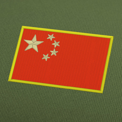 China flag embroidery machine design