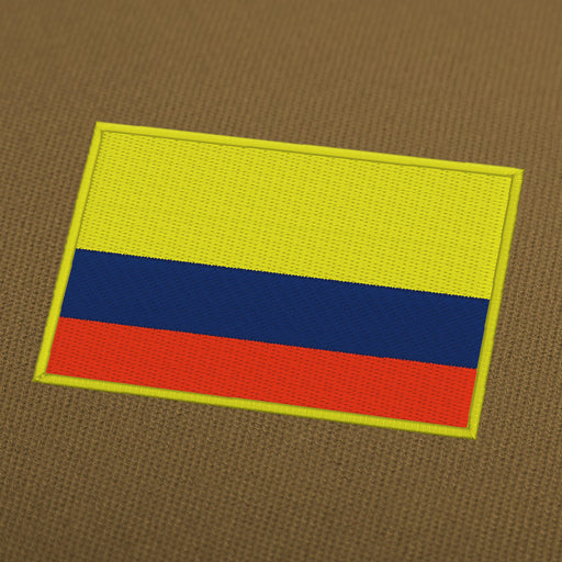 Columbia flag embroidery machine design