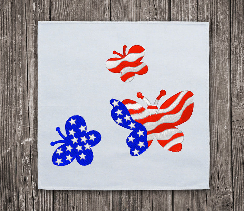 Butterflies USA Flag - Embroidery design download