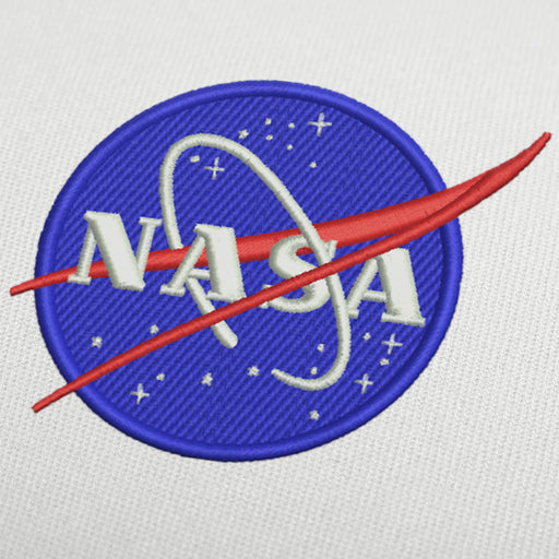 Nasa logo machine embroidery design