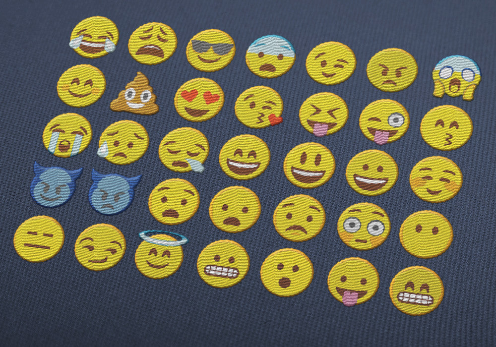 Emoji Embroidery designs - digital download