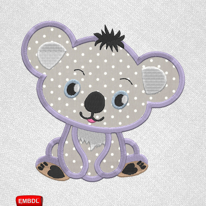 Koala Applique - Embroidery design download