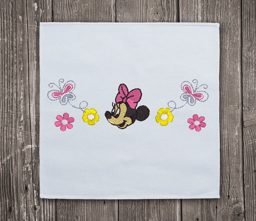 Floral Minnie Mouse Embroidery Design for Download