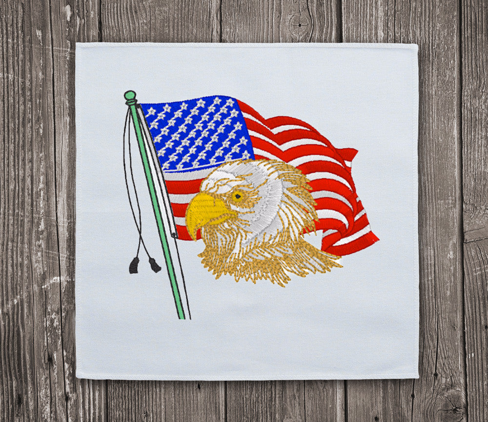 Eagle & USA Flag - Embroidery design download