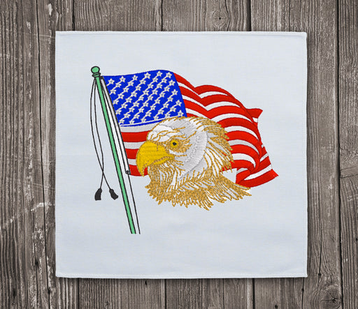 Eagle & USA Flag Embroidery Design for Instant Download