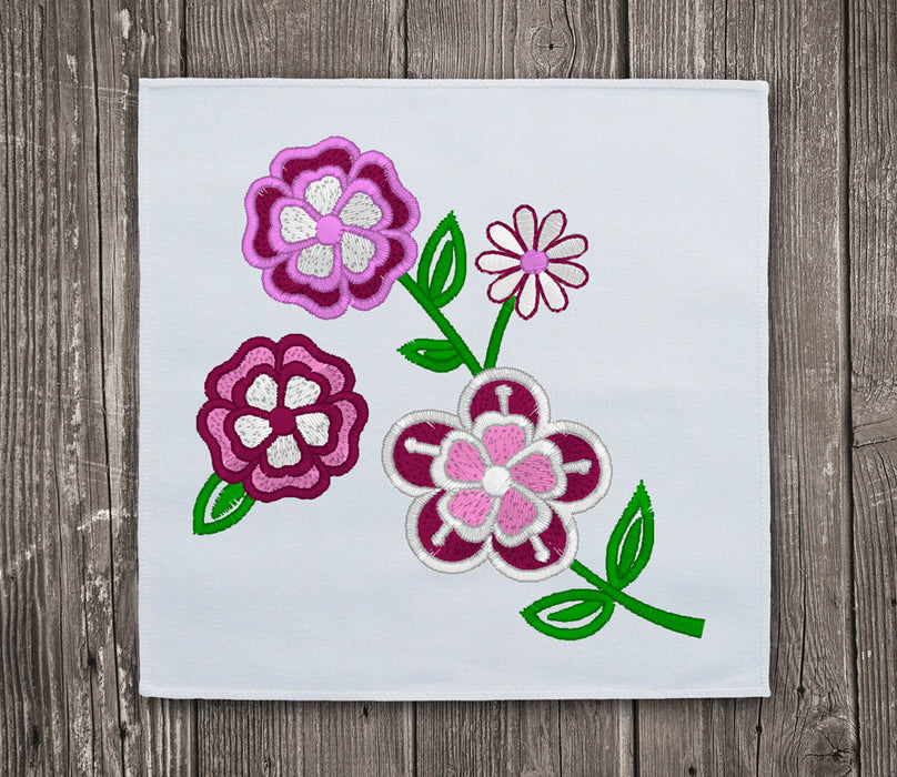 Beautiful Flowers 1 Embroidery Design For Instant Download