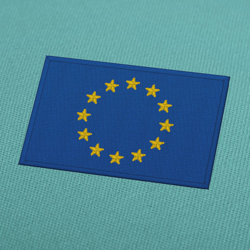 Europe flag embroidery design