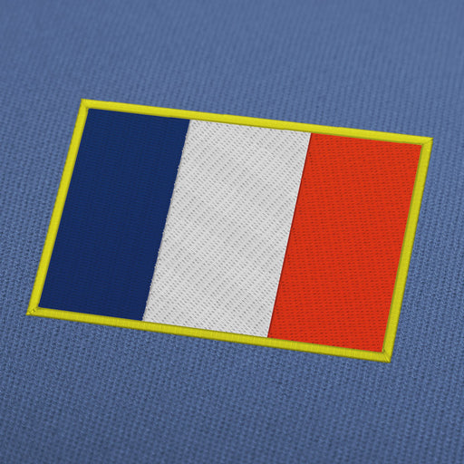 France flag embroidery machine design