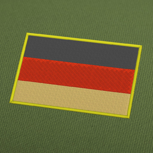 Germany flag embroidery machine design