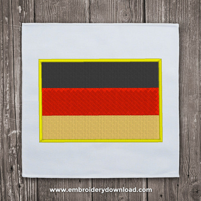 Germany flag embroidery design