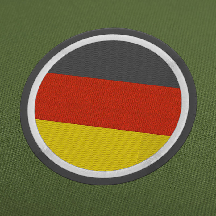 Germany flag circle embroidery machine design