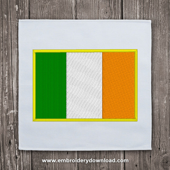 Ireland flag embroidery design