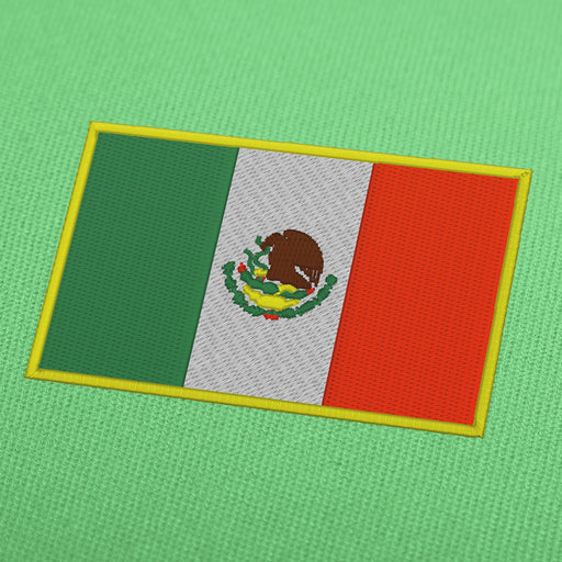 Mexico flag embroidery machine design