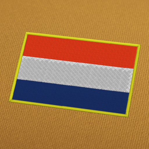 Netherlands flag embroidery machine design