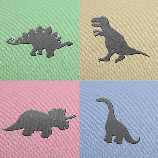 Pack of 4 Dinosaurs Embroidery design for Instant Download
