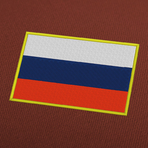 Russia flag embroidery machine design