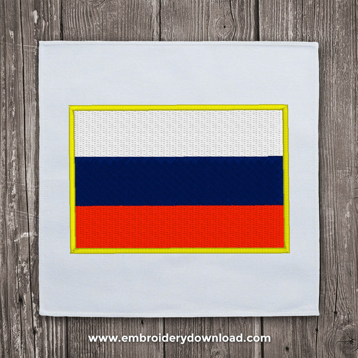 Russian flag embroidery machine design