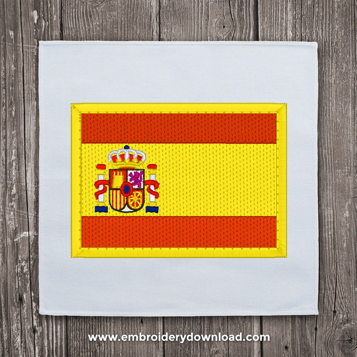 Spanish flag embroidery machine design