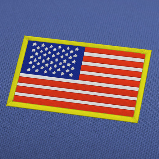 USA flag embroidery machine design