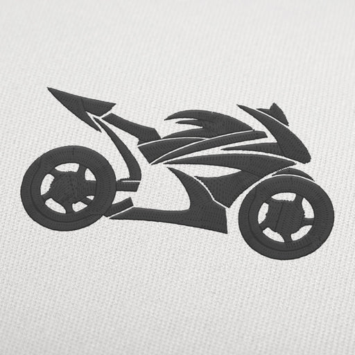 Motorcycle Yamaha embroidery design
