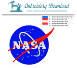 Nasa Embroidery design color chart
