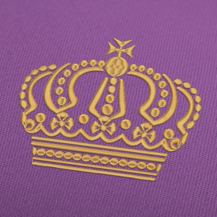 Royal Crown Embroidery Design For Instant Download