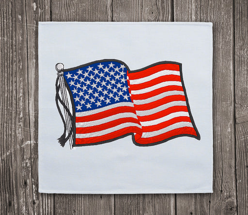 USA Waving Flag 2 Embroidery Design for Instant Download