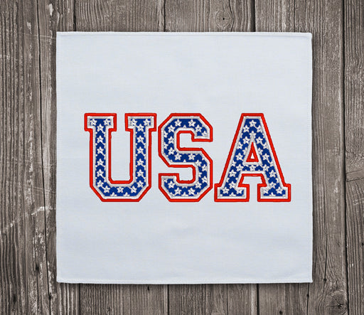 USA Letters United States Embroidery Design for Instant Download