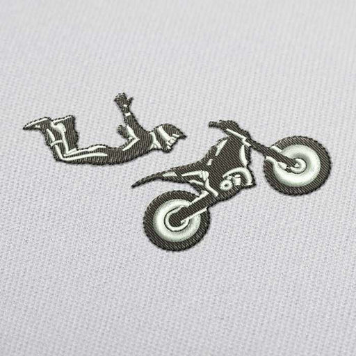 Freestyle Motocross Embroidery Design for Download