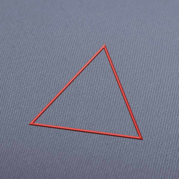 Triangle Outline Embroidery Design Download