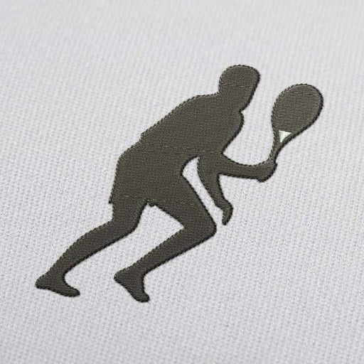 Tennis Player Running Embroidery Design for Download