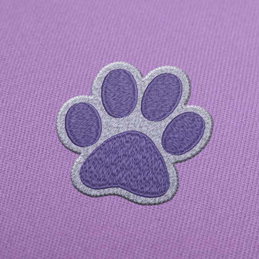 Color Paw Print 2 Embroidery Design for Instant Download