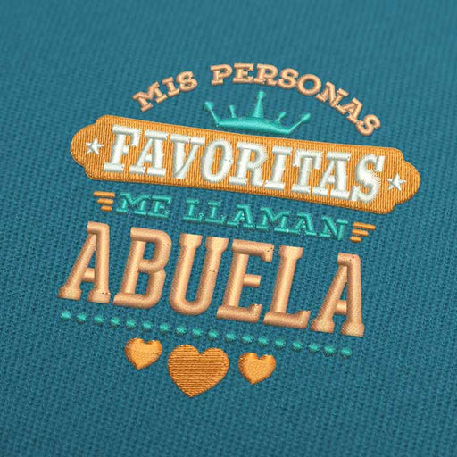 Mis Personas Favoritas Me Llaman Abuela Embroidery Design Download