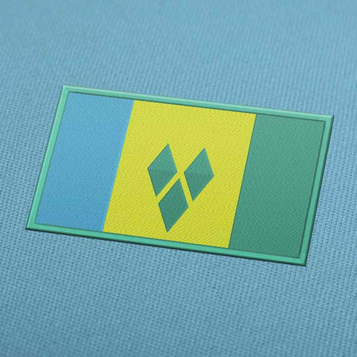 Saint Vincent and the Grenadines Flag Embroidery Machine Design