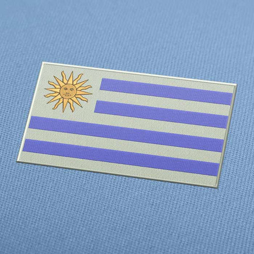 Uruguay Flag Embroidery Machine Design - Instant Download
