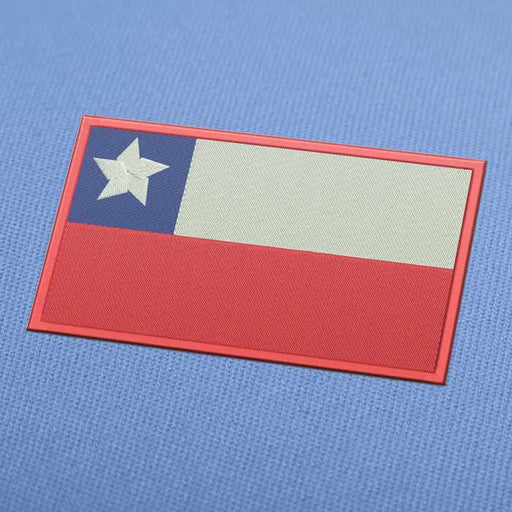 Chile Flag Embroidery Machine Design For Instant Download