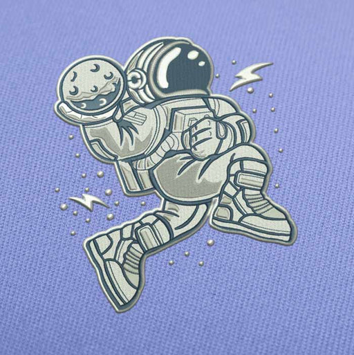 Astronaut Slam Dunk Embroidery design for Instant Download
