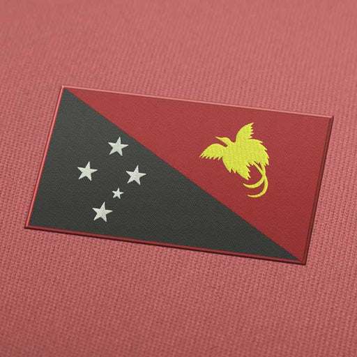 Papua New Guinea Flag Embroidery Machine Design - Download