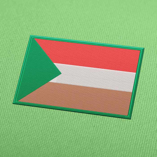 Sudan Flag Embroidery Machine Design - Instant Download