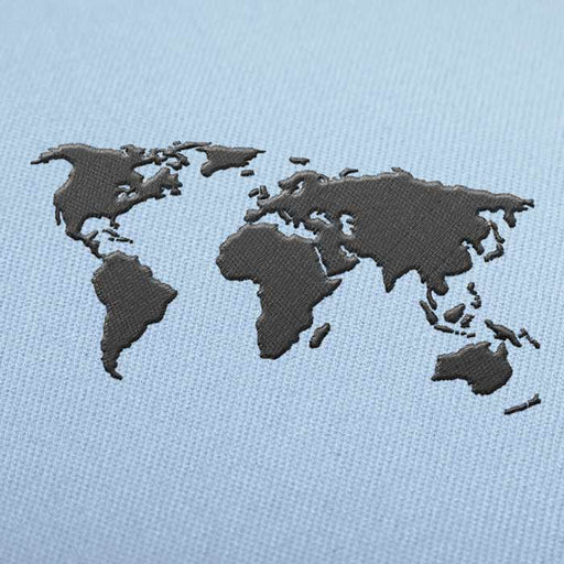 World Map Embroidery design for Instant Download