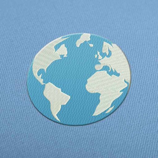 Earth Globe Embroidery design for Instant Download