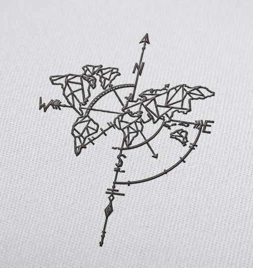 Broken Compass Embroidery design for Instant Download