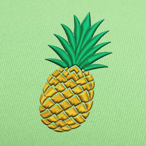 Pineapple Fruit Embroidery design for Instant Download