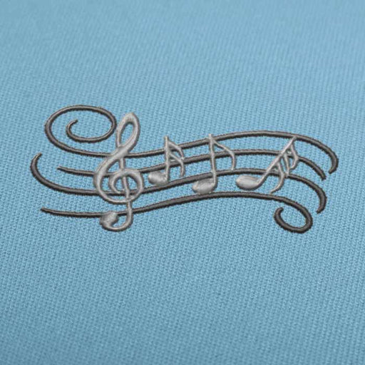 Music Notes Pentagram Embroidery design for Instant Download