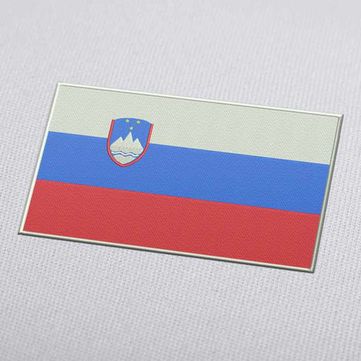 Slovenia Flag Embroidery Machine Design - Instant Download